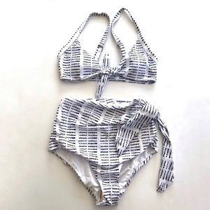 NWOT Shein Tie 2-piece Swimsuit